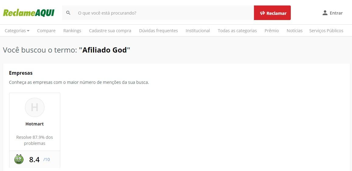 Afiliado God reclame aqui