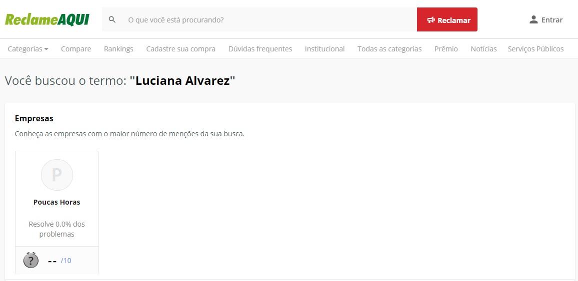 Luciana Alvarez Reclame Aqui