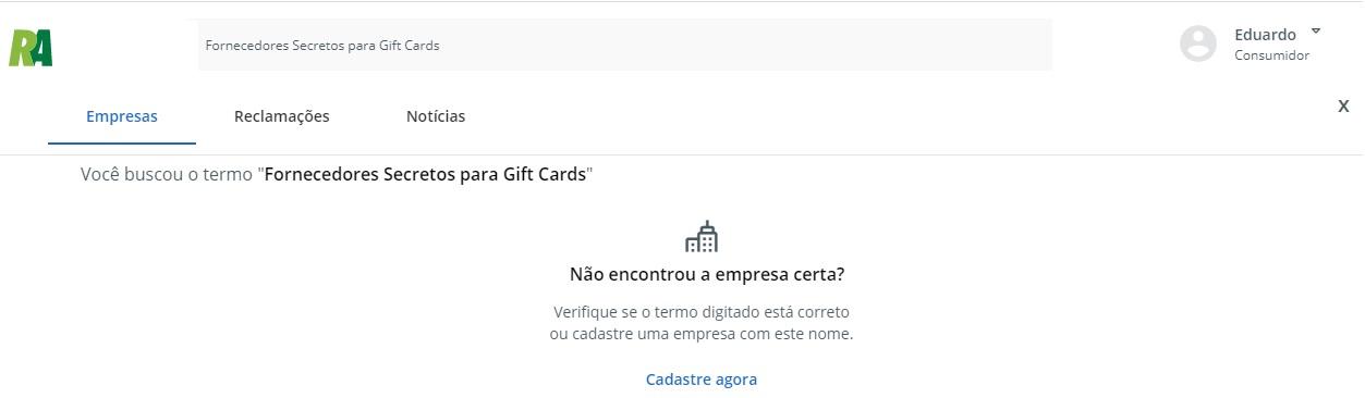 Fornecedores Secretos para Gift Cards